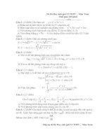 Đề thi HSG lớp 12 có đáp án đề 29