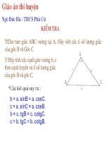 Chương I - Bài 4: Hệ thức lượng về cạnh và góc trong tam giác vuông