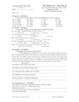 Đề kiểm Tra 1 Tiết Lần II - (2008-2009)
