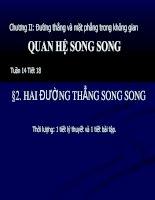 Chương II - Bài 3: Đường thẳng và mặt phẳng song song