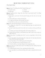 Bộ đề 80 câu TNKQ văn 6 có đáp án năm 08-09