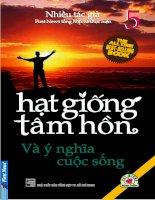 Hạt giống tâm hồn 5: Y Nghia Cuoc Song
