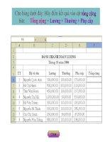 Một số hàm cơ bản trong Excel