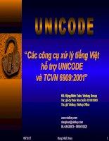 Các công cụ xử lý tiếng Việt hỗ trợ UNICODE và TCVN 6909:2001