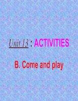 UNIT13:ACTIVITIES