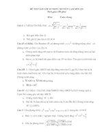 Đề thi HSG toán lớp 9 có đáp án đề 41