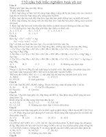 110 câu hỏi trắc nghiệm hóa vô cơ