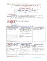 Giáo án 12 mới chuơng 1(4 cột)
