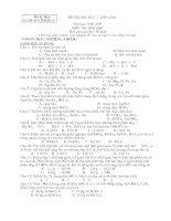 Đề thi & đáp án thi HKII lớp 10 Môn Hóa 3