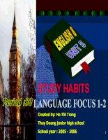 Unit 5: Study habits