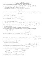 Bài tập phương trình đường thẳng(HAY)