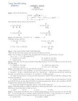 Bài tập theo chủ đề - Ôn thi đại học