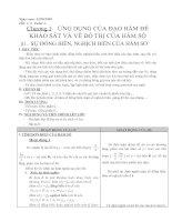 GIẢI TÍCH 12-CHƯƠNG 1