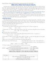 phuong phap can bang electron