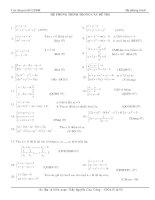 Hệ phương trình trong các đề thi Đại học