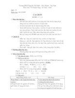 Giáo án Hóa 9 - HKII