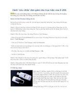 Cách ''cứu chữa'' đơn giản cho trục trặc của ổ USB