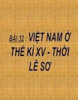 Bài 32: Việt Nam thế kỉ XV - Thời Lê sơ