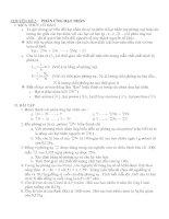 Chuyên đề 5 : Phản ứng hạt nhân và đáp án chương I