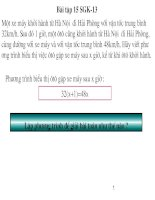 Giải bài toán bằng cách lập phương trình
