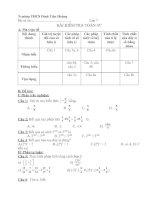Đề kiểm tra chương I (có ma trận đề)