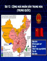 Bài 12.Cộng hòa nhân Trung Hoa(Trung Quốc).tiết 1. Tự nhiên, dân cư và xã hội