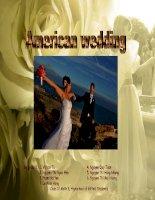Tìm hiểu về đám cưới của người Mĩ - American wedding