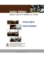 Giáo trình hướng dẫn sử dụng phần mềm Photoshop