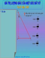 Chương II - Bài 1: Giá trị lượng giác của một góc bất kỳ