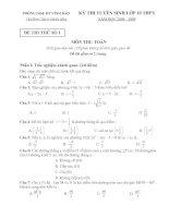 6 đề thi vào 10 THPT 07-08 Hải Phòng