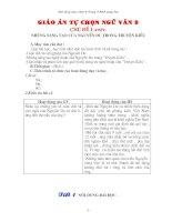 Giáo án tự chọn Ngữ văn 9