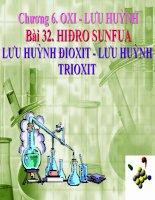 Bài 32: Hiđro Sunfua