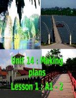 unit 14: making plans- leson1 : A 1 -2