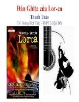 Đàn Ghita của Lor-ca