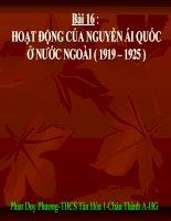 Bài 16-Sử 9-Hoat động của NAQ ở nước ngoài(1919-1925)