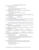 100 câu trắc nghiệm đột biến NST
