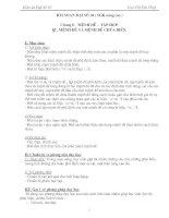 Giáo án Đại số 10 chương I (nâng cao)