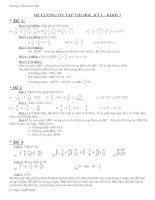 Đề thi ôn tập toán 7 học kỳ 1