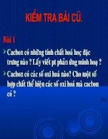 Bai 16 Cac hop chat cua Cacbon