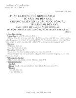 Giáo án lịch sử lớp 9 (từ tiết 1-11)