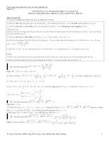 Chuyên đề xét dấu và ứng dụng