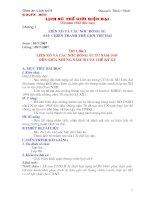 Giáo án lịch sử lớp 9 (HKI)