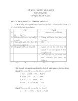 Đề kiểm tra Hóa học 8 HK II - Đề số 2