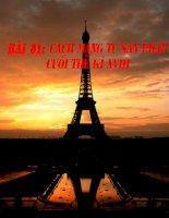 Bài 31: Cách mạng tư sản Pháp cuối thế kỉ XVIII (Tiết 1)