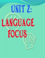 language focus 12 unit 2CB