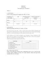 Đề kiểm tra Tiếng Anh 7 HK I - Đề số 2