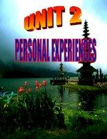 Unit 2:Personal Experiences