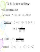 Bài tập ôn tập chương 4