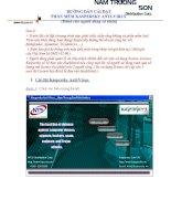 Hướng dẫn cài đạt phần mềm diệt virut Kaspersky Anti Virut