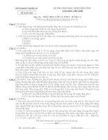 Đề thi HSG Hóa 12 Bảng A